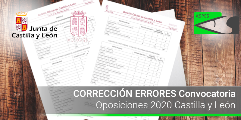 CORRECCION ERRORES convOpos20